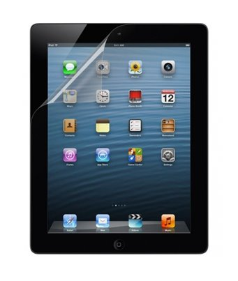 Invisible deluxe screen protector film for the Apple iPad 4