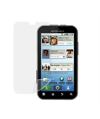 Invisible deluxe screen protector film for the Motorola Defy