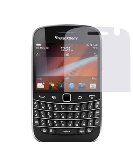 Invisible deluxe screen protector film for the BlackBerry Bold 9900