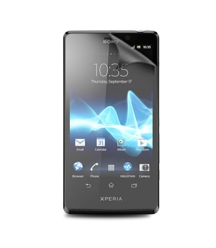 Invisible deluxe screen protector film for the Sony Xperia T