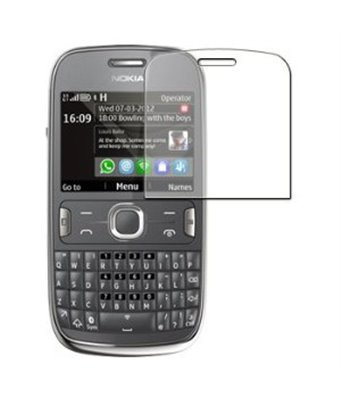 Invisible deluxe screen protector film for the Nokia Asha 302