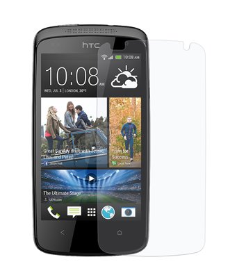 Invisible deluxe screen protector film for the HTC Desire 500