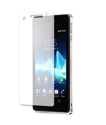 Invisible deluxe screen protector film for the Sony Xperia V