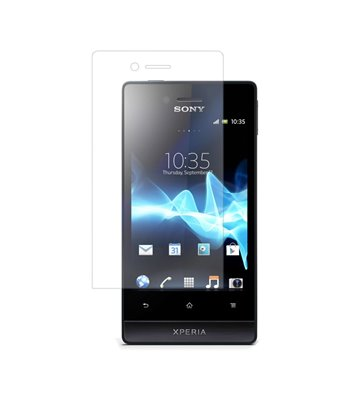 Invisible deluxe screen protector film for the Sony Xperia Miro