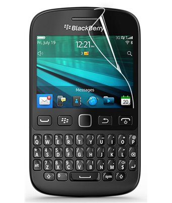 Invisible deluxe screen protector film for the BlackBerry 9720
