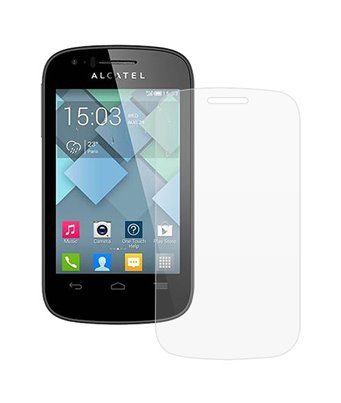Invisible deluxe screen protector film for the Alcatel One Touch Pop C1