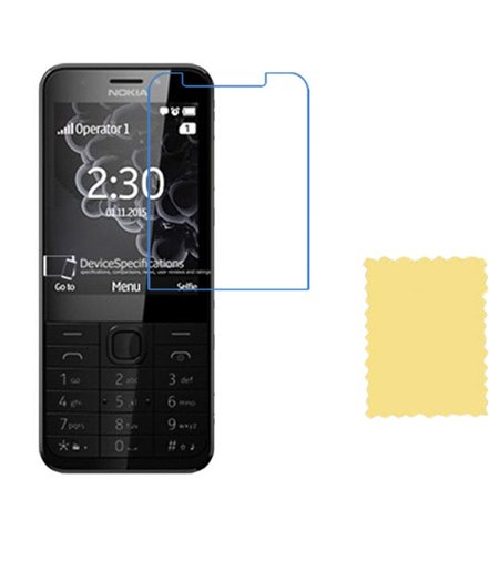 Invisible deluxe screen protector film for the Nokia Nokia 230